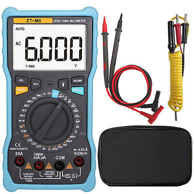 Zt-m0 True-rms Digital Multimeter Auto Manual Analog Bar Graph Acdc Voltage