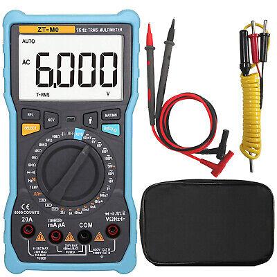 Zt-m0 True-rms Digital Multimeter Auto Manual Analog Bar Graph Acdc Voltage