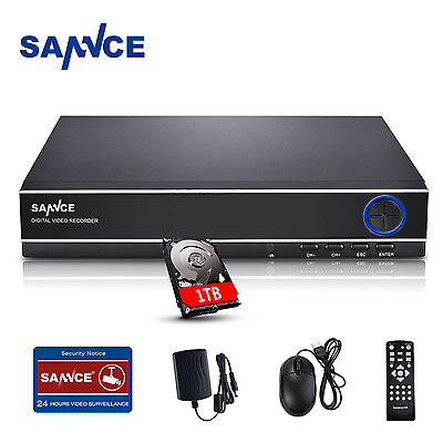 SANNCE 1TB 4CH Channel HDMI 960H CCTV DVR Video Recorder Home Security System 4 Channel Cctv Dvr Video