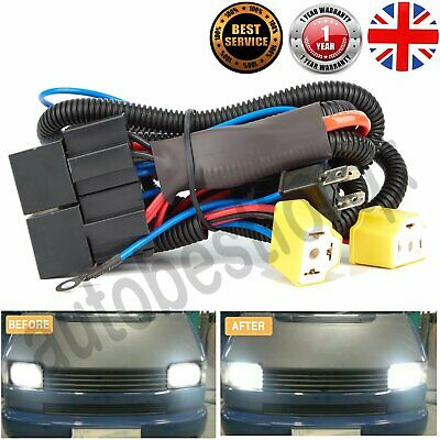 Uprated Fog Light Headlight Harness Wiring Loom Upgrade Headlights Kit For T4