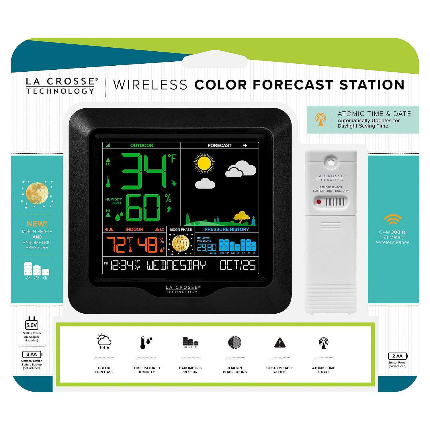 Brand New La Crosse Technology Wireless Color Weather Station S84107 TX141TH-BV2