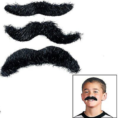 36 pcs Hairy Black Mustaches Novelty Mustaches Suitable for All Ages party favor (Party Moustaches)