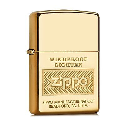 "ZIPPO ""Windproof"" High Polish Brass Lighter # 28145 on Rummage"