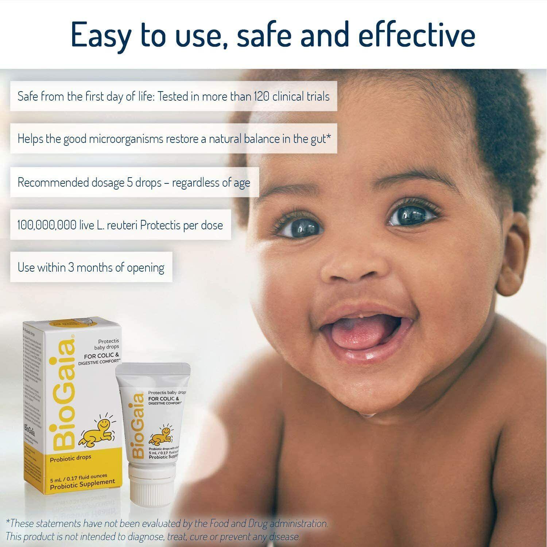 BioGaia Protectis Probiotics Drops, Baby, Infants, Newborn and Kids, 5mL 4