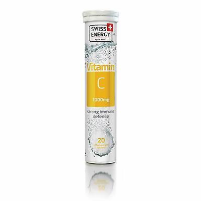 Swiss Energy Vitamin C 1000 mg - Effervescent 20 Count Fight Stress Anti Oxidant