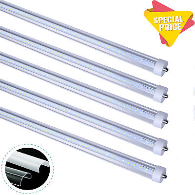 8Foot LED Tube Light T8 Single Pin 45W FA8,5000K,6500K T12 Clear, Frosted Cover (Led Pin Lights)