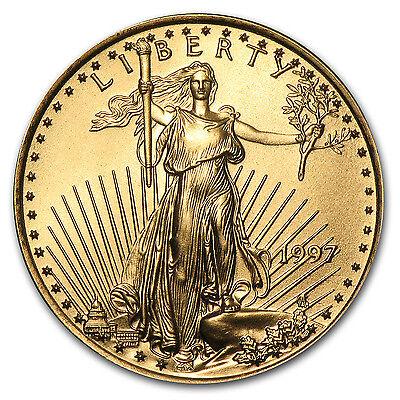 1997 1/4 oz Gold American Eagle BU - SKU #7434