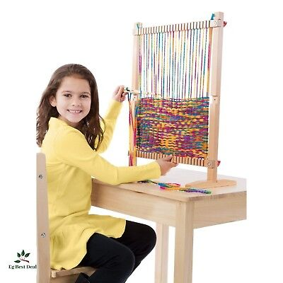 - Weaving Loom Kit For Kids Beginners Lap Table Toys Supplies Knitting Patterns