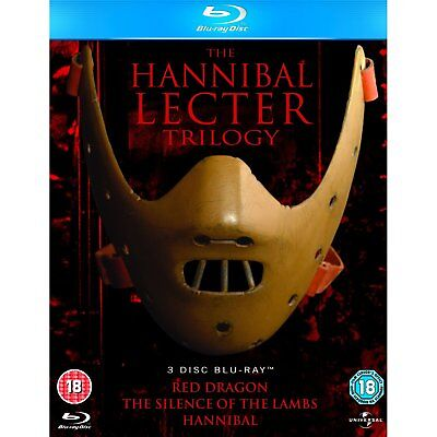 The Hannibal Lecter Trilogy Collection 3 Movie Blu Ray Set New Free Ship