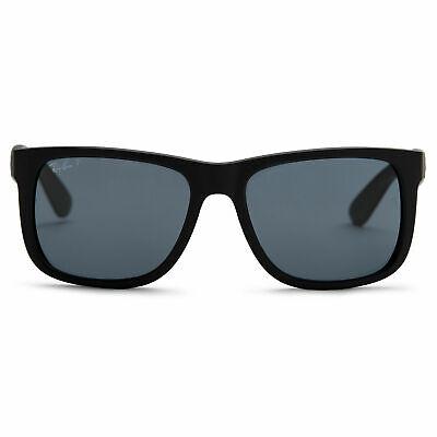 Ray-Ban Justin RB4165 622/2V 55mm Black Rubber/Dark Blue Polarized Sunglasses