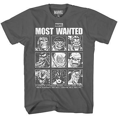 Most Wanted Villains Thanos Doc Oc Green Goblin Tee Adult Men's Graphic T-Shirt