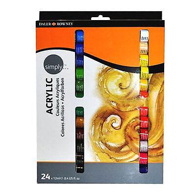 Aktion -31% Daler Rowney Acrylfarben Set mit 24 Tuben a 12ml