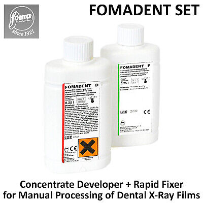 Fomadent Dental X-ray Film Developer Rapid Fixer Concentrates Set Manual Process