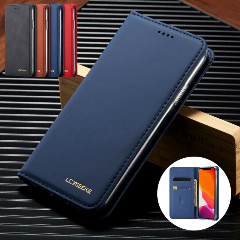 Case For Samsung Note 10 Plus S8 S9 S10 Plus S20 Ultra Leather Wallet Flip Cover