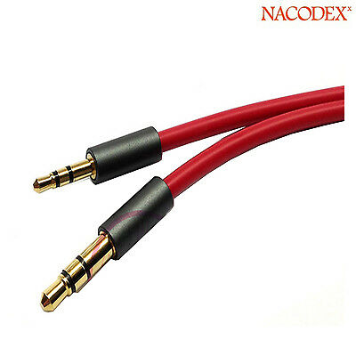 - 3.5mm Male to 2.5mm Male Jack Record Car aux Audio Cord headphone connect Cable