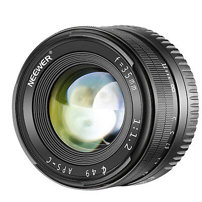 Neewer 35mm F1.2 Large Aperture Prime APS-C Aluminum Lens Compatible with Sony