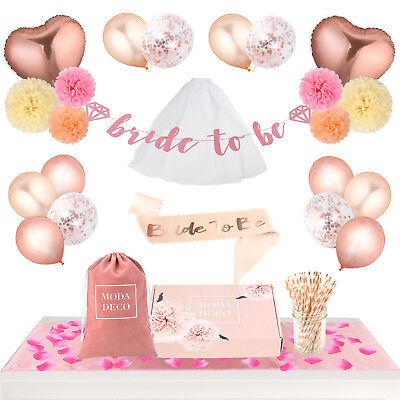 Bridal Shower / Bachelorette Party Supplies Set - Complete Decoration Kit +165pc](Bridal Shower Decoration Kit)