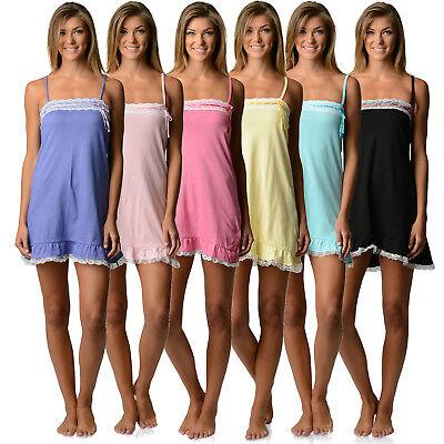 Casual Nights Women's Jersey Lace Trim Chemise Nightie  ()