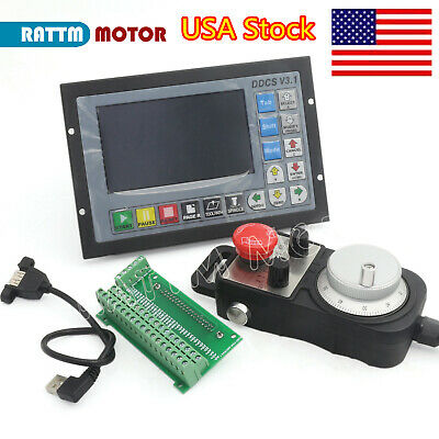 Usa Ddcsv3.1 Offline Stand Alone 4 Axis Cnc Motion Controller W Mpg Handwheel