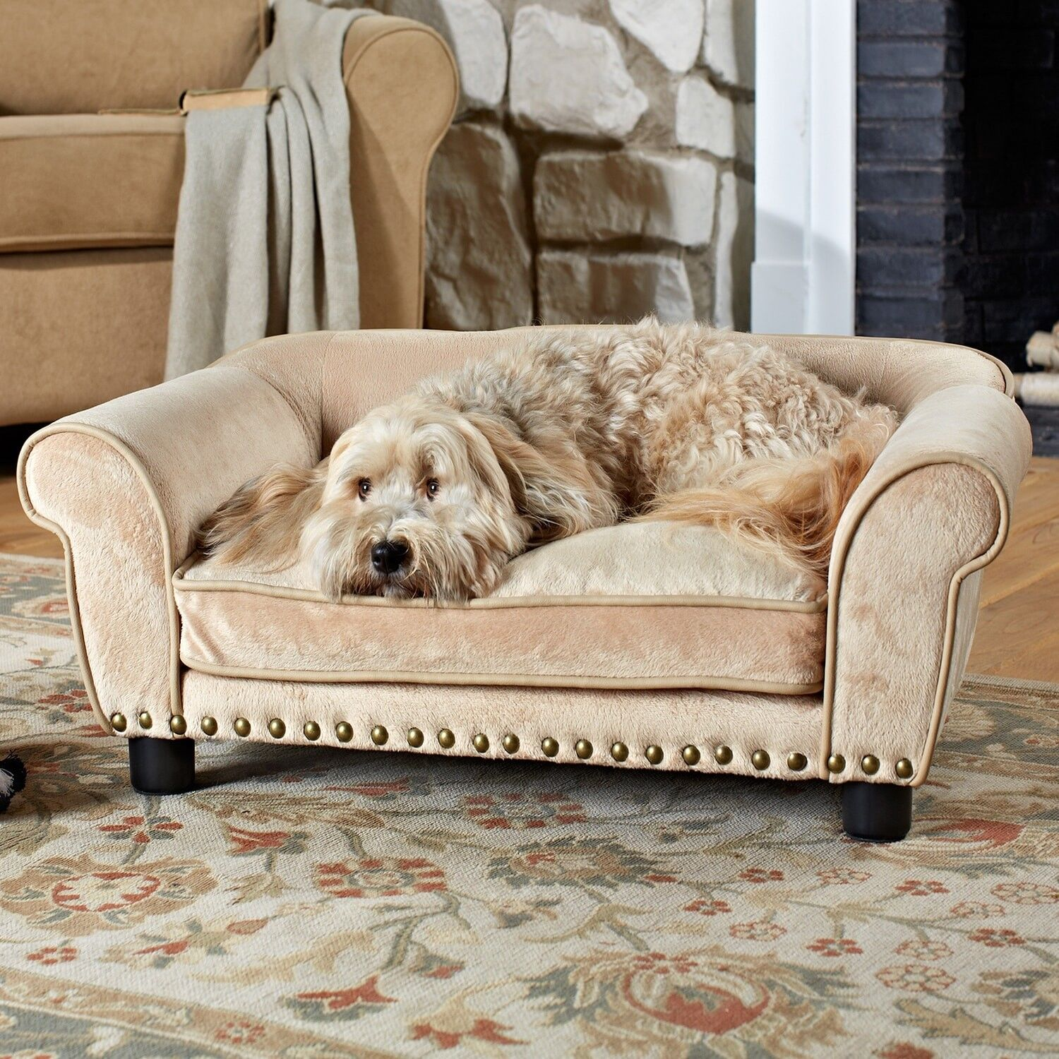 Dog Bed Sofa Elevated Couch Cat Pet