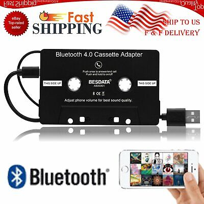 - Adapter Converter For iPhone iPod MP3 MP4 Audio AUX Car Bluetooth Cassette Tape