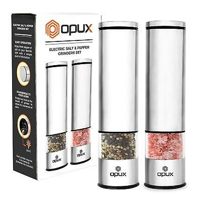 Best Electric Salt And Pepper Grinder Set Battery Operated Pepper Mill With