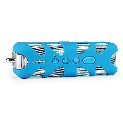 Potente Altavoz bluetooth portátil resistente golpes agua Aux mp3 pc ipod azul
