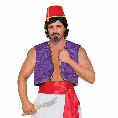 Herren Aladdin Wüste Prinz Kostüm Party Outfit Genie Weste Kostüm - Aladdin Kostüm Herren