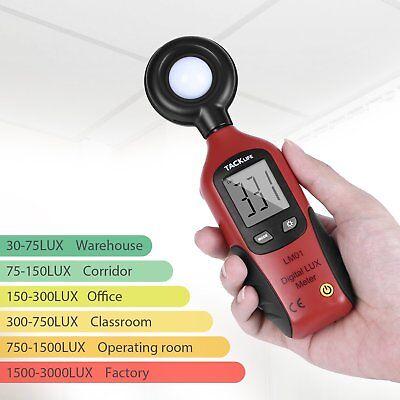 Tacklife LM01 Klassischer Luxmeter Digital Photometer  Leucht Lichtmesser