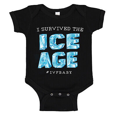 I Survived The ICE AGE IVF Infertility Baby IUI  Cotton Baby Bodysuit Romper