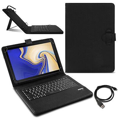 Tablet Tasche Samsung Galaxy Tab S4 10.5 Hülle Tastatur Bluetooth Deutsch QWERTZ (Samsung S, Tablet Tasche 10 5)