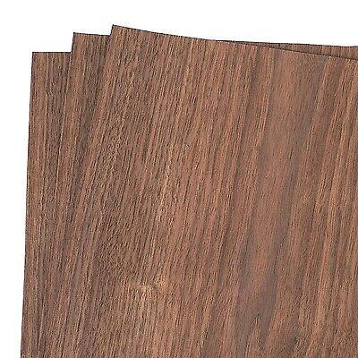 Walnut Wood Veneer Rawunbacked 12 X 12 1 X 1 Pack Of 3 Sheets