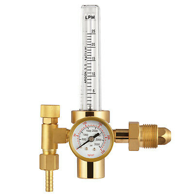 Argon Co2 Cga-580 Mig Tig Flow Meter Welding Weld Regulator Gauge Gas Welder