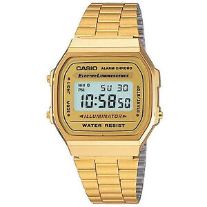 CASIO, RETRO VINTAGE LOOK MEN'S DIGITAL WATCH, GOLD TONE, A168WG-9, FREE SHIP