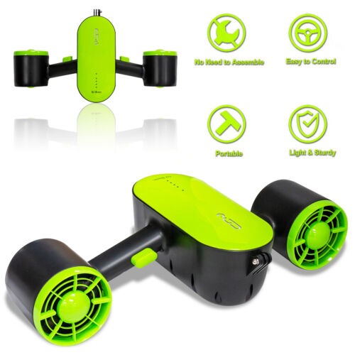 Underwater Scooter Dual Motors for Snorkeling Diving Swimming Beach Water Sports