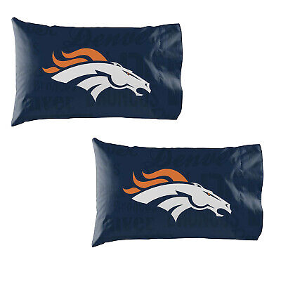 Football Denver Broncos Pillow Case Covers 2 Pack officially Licensed - Football Broncos