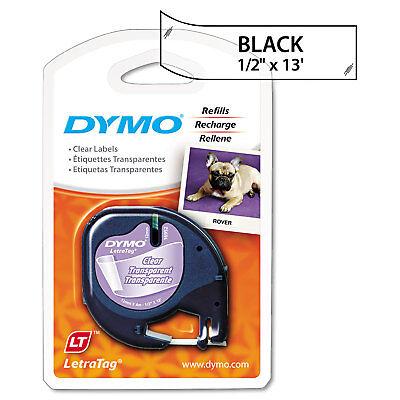 Dymo Letratag Plastic Label Tape Cassette 12 X 13ft Clear 16952