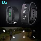 Heart Rate Monitor Sports Fitness Pedometer Smart Bracelet Watch Wristband U3