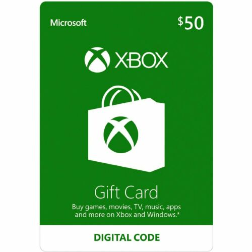 Microsoft $50 Xbox Gift Card Email Delivery