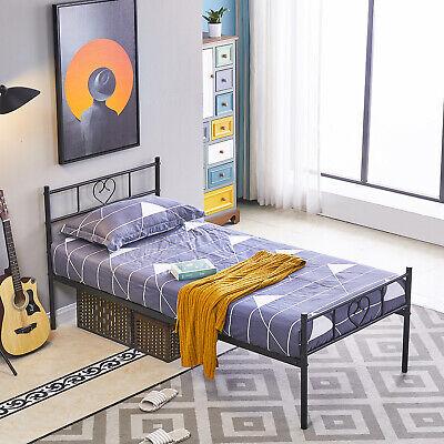 3FT Cama de metal 90x190cm Negro bastidor de cama cama de diseño...