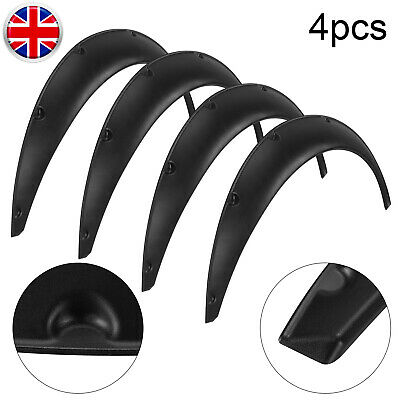 Universal 4PCS Fender Wheel Arches Flare Extension Flares PP Polyurethane Parts