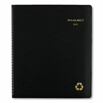 At-a-glance Recycled Monthly Planner 11 X 9 Black 2020 70260g05