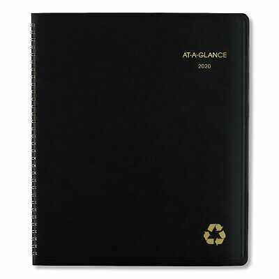 """2019 At-A-Glance 70-260G-05 Monthly Planner 8-7/8 x 11"""", Bla"""