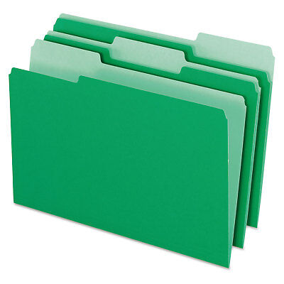 Pendaflex Colored File Folders 13 Cut Top Tab Legal Greenlight Green 100box