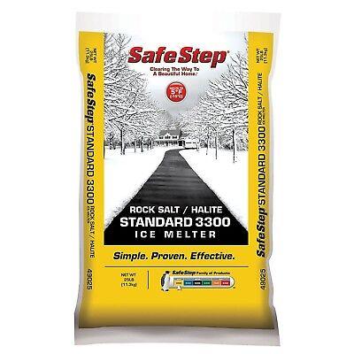 Safe Step Rock Salt Ice Melter Sodium Chloride (Rock Salt) Melts Ice Down To ... Rock Salt Ice Melt
