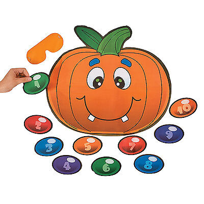 HALLOWEEN PAPER Game Silly School Class Party PIN THE NOSE ON THE PUMPKIN ](Pumpkins Halloween Game)