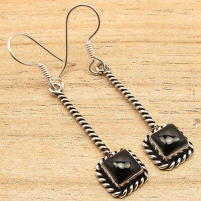 Deal of the Day - DEAL OF THE DAY ! 925 Silver Plated Exclusive CABOCHON BLACK ONYX NICE Earrings