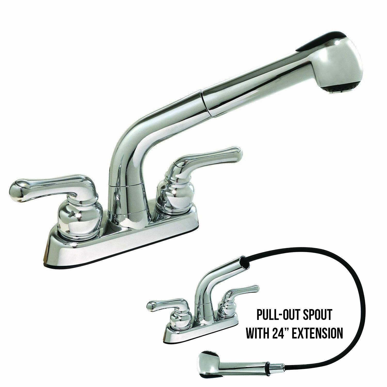 Laundry Faucet Pull-Out Spout Non-Metallic, Polished Chrome Finish eBay Motors