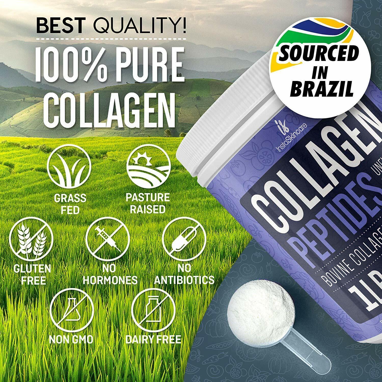 ❤Premium Collagen Peptides Powder Hydrolyzed Anti-Aging Protein 1 LB 5