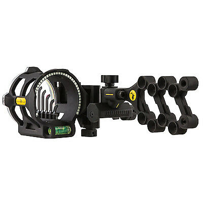 "Trophy Ridge Peak 5-Pin Bow Sight with Light .019"" Pin Left Hand Black #23076"